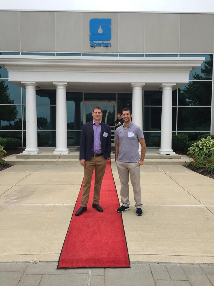Jared Sarbit and Aaron Graham standing before the Spartan building | Picture Perfect Cleaning