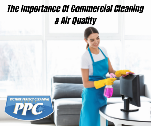 Woman cleaning a commercial property